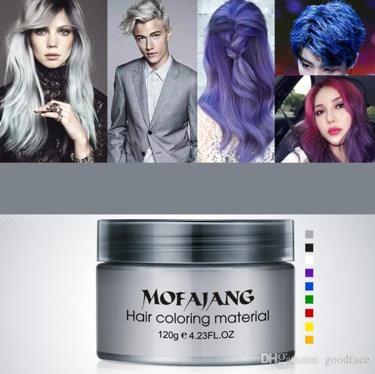 الأزياء 9 الألوان المتاحة mofajang الشعر الشمع لتصفيف الشعر دهن 120 جرام موفانج الشعر الشمع 120 قطع / علبة كرتون