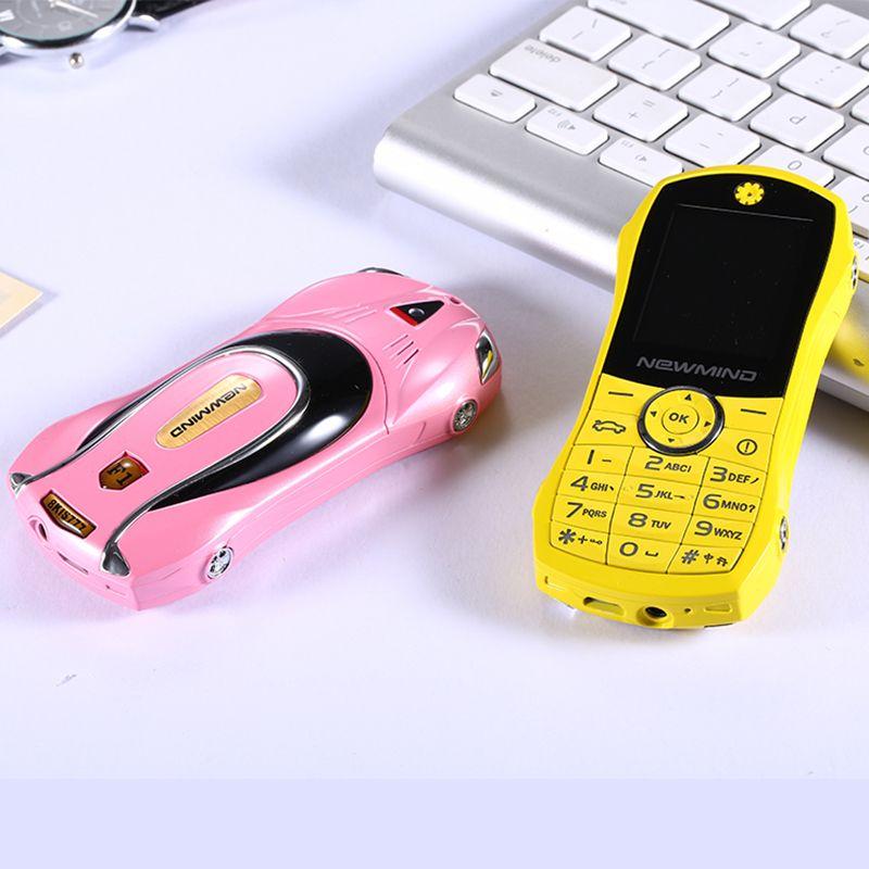 Fashion design Unlocked bar small size Dual sim card Car mobile phone car shape model phone luxury low price metal cellphone FREE SHIPPING