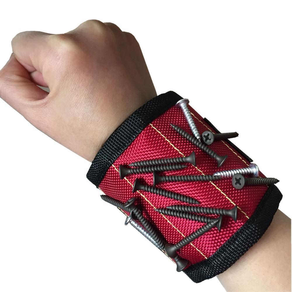 1680D أكسفورد المغناطيسي الاسورة حزام سوار الكفة مسمار برغي حامل أدوات منظم Poket لحزام الحقيبة حقيبة أدوات محفظة LJJA3590