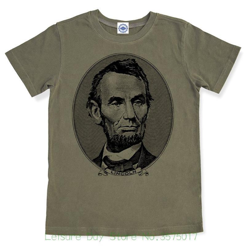 2018 Nouveau pur coton à manches courtes Hip Hop Mode Hommes T-shirt T-shirt de Hank Player 'abraham Lincoln hommes