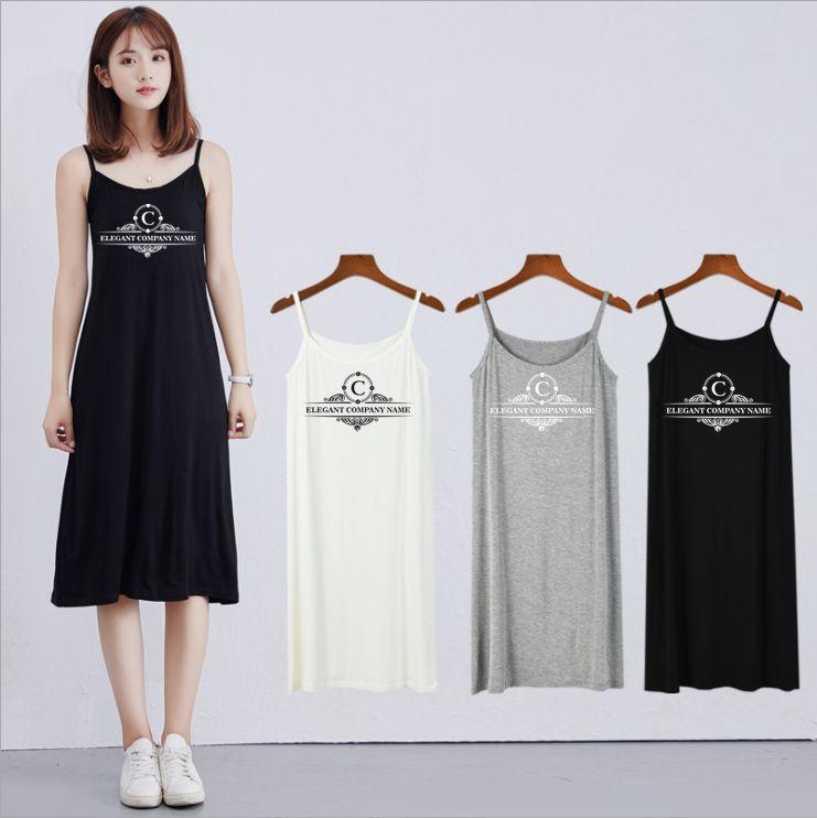 Frau Designer Luxus-Kleid Mittellange Rock Strapse mit hoher Taille Beliebte Explosion Modelle Printed Startseite legeren Kleidung Preppy Style Fashion