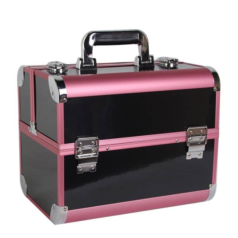 Büyük Makyaj Organizatör Saklama Kutusu Kozmetik Durumda bagaj Kadınlar için makyaj bavul Konteyner Kutusu Çiviler Güzellik seyahat Kozmetik