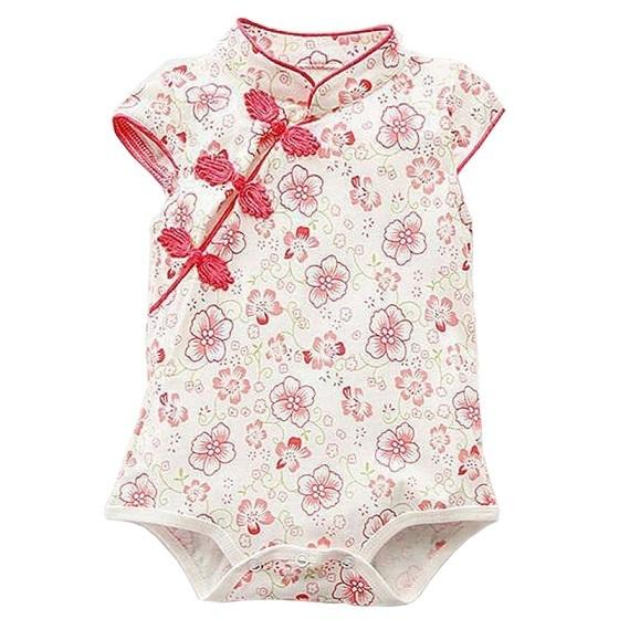 Toddler Girl Romper Baby Clothes Classic Cheongsam Style Jumpsuit Summer Outfits