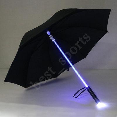 تبريد بليد ضوء صابر LED ضوء فلاش مظلة روز مظلة ليلة مشوا مصباح زجاجة مظلة ZZA1395