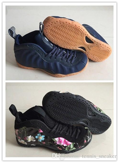 2019 New One Полночь ВМС Хардуэй 314996-405 Мужчины Баскетбол Полночь Navy One Flora Дизайнерские кроссовки