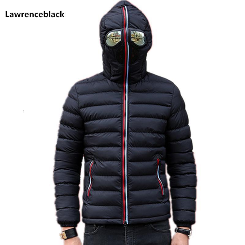 Lawrenceblack Winter Jackets Men Parkas with Glasses Padded Hooded Coat Mens Warm Camperas Children Windproof Quilted Jacket 839 S191019