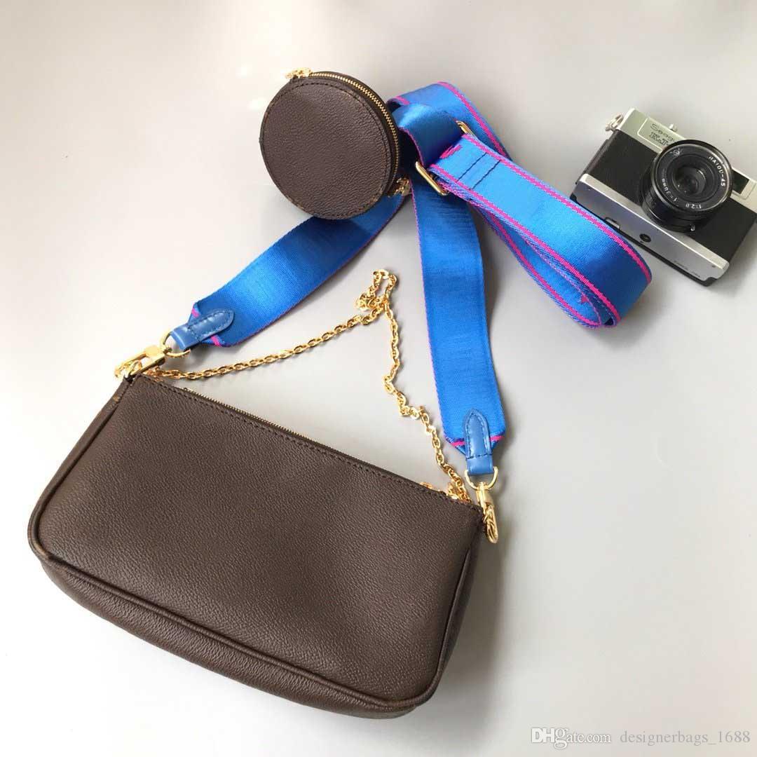 горячие женщины любимые мульти pochette аксессуары три-в-одном сумка crossbody сумки на ремне из трех частей кошелек кошелек курьерские сумки маджонг сумка