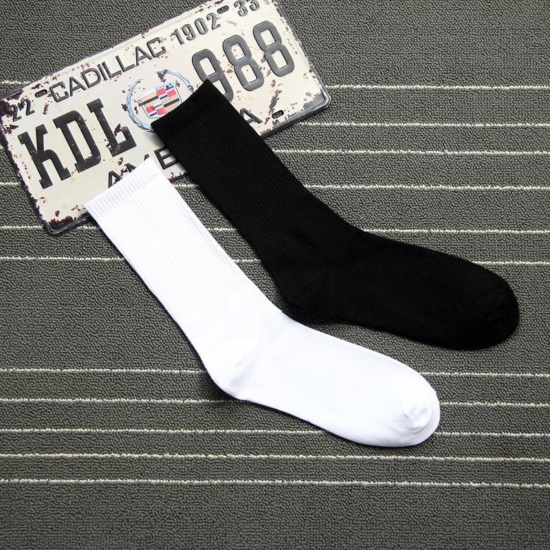 3daHk Y-9 a vita alta lungo tubo strisce verticali degli uomini pettinati Calze cotone coreano calzini in bianco e nero alla moda di strada Shoo