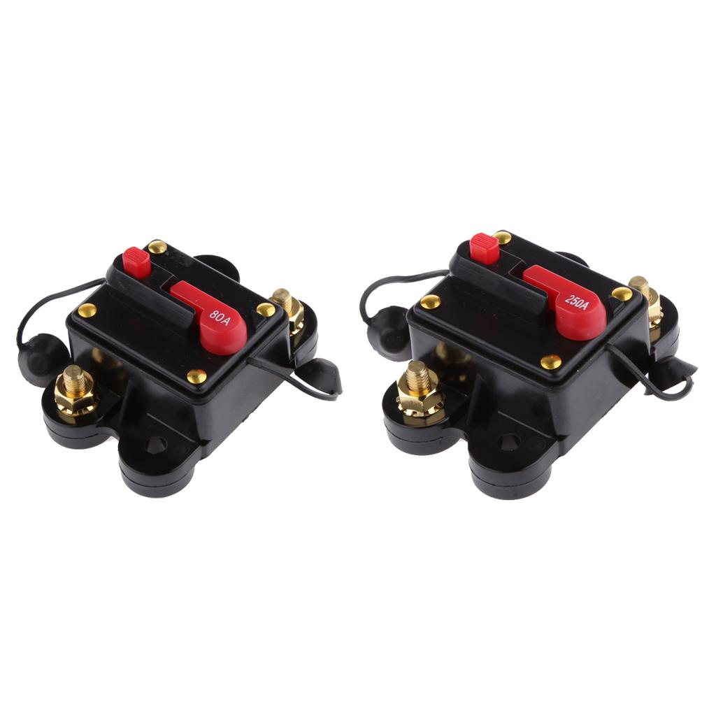 12V-24V en línea Auto interruptor de circuito a prueba de agua + 80 250Amp interruptor de ajuste manual