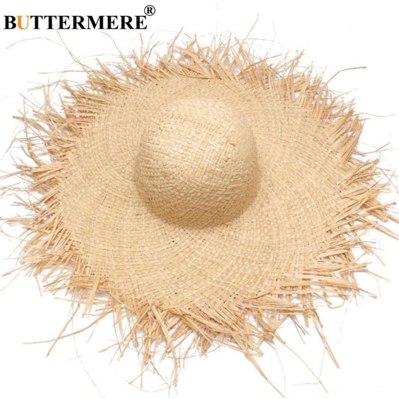 Buttermere ВС шляпа с широкими полями летом женщин Ladies Рафия соломенной шляпе Fringe мода Женщины-Бич Шляпа Gorra Hombre