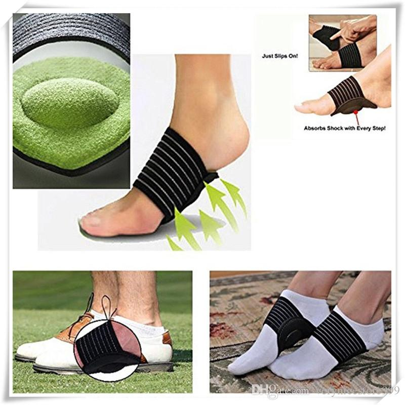 Mounchain Unisex 1pair Ankle Protection Breathable Foot Arc Thickened Foot Mat Sports Shoe Insole Pad Bandage Strap