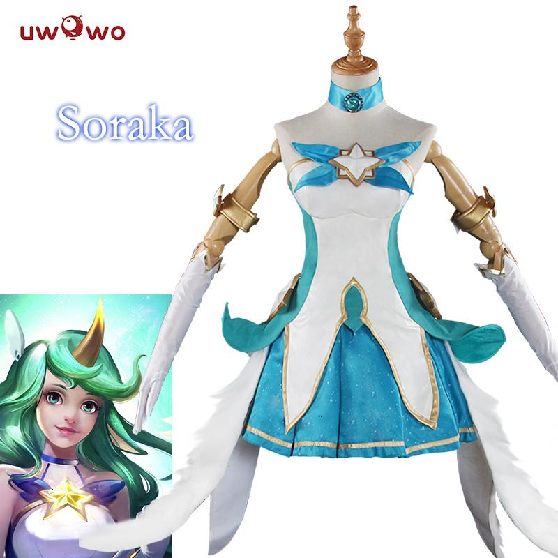 Ver Halloween 2020 2020 UWOWO Ver Game Cosplay LOL Star Guardian Soraka Cosplay Women