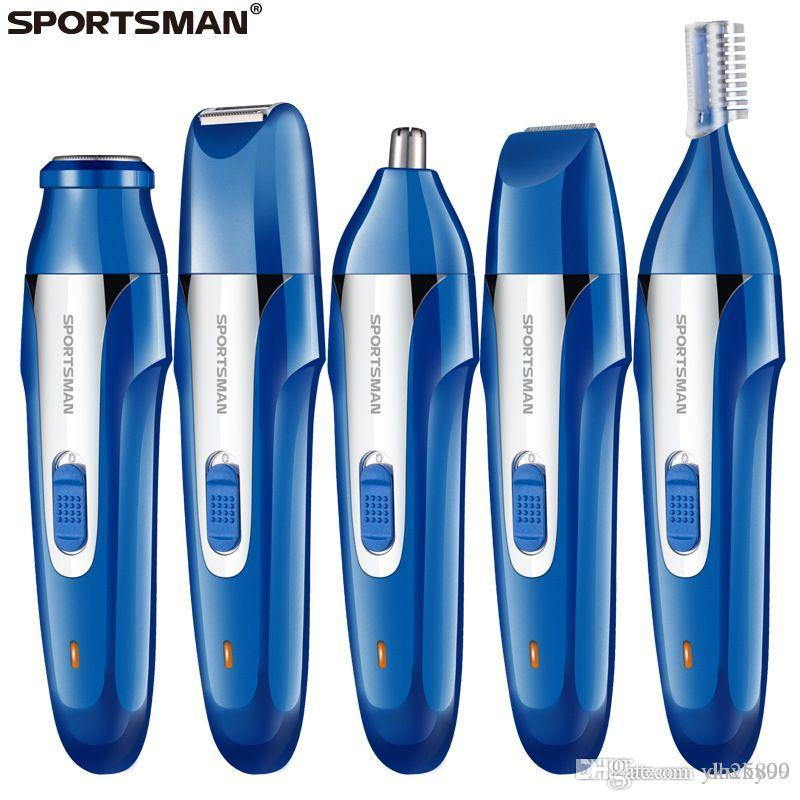 Multifunctional electric men's shaver USB charging five-in-one nose hair trimmer haircut eyebrow