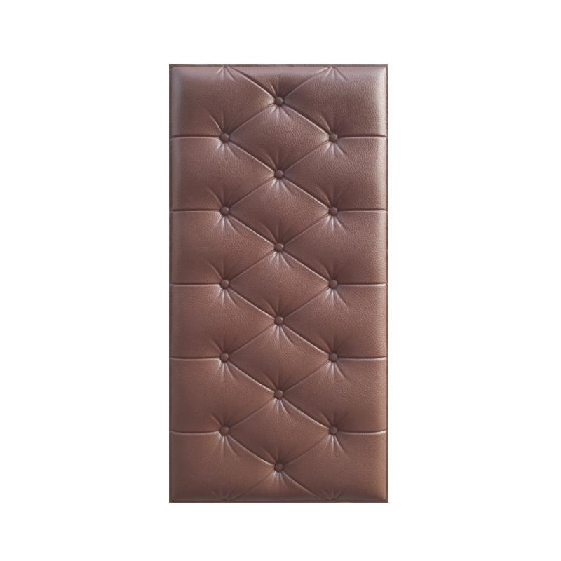 3D Wall Sticker Solid Color PU Leather Foam Wall Decal for Parlor Office AUG889