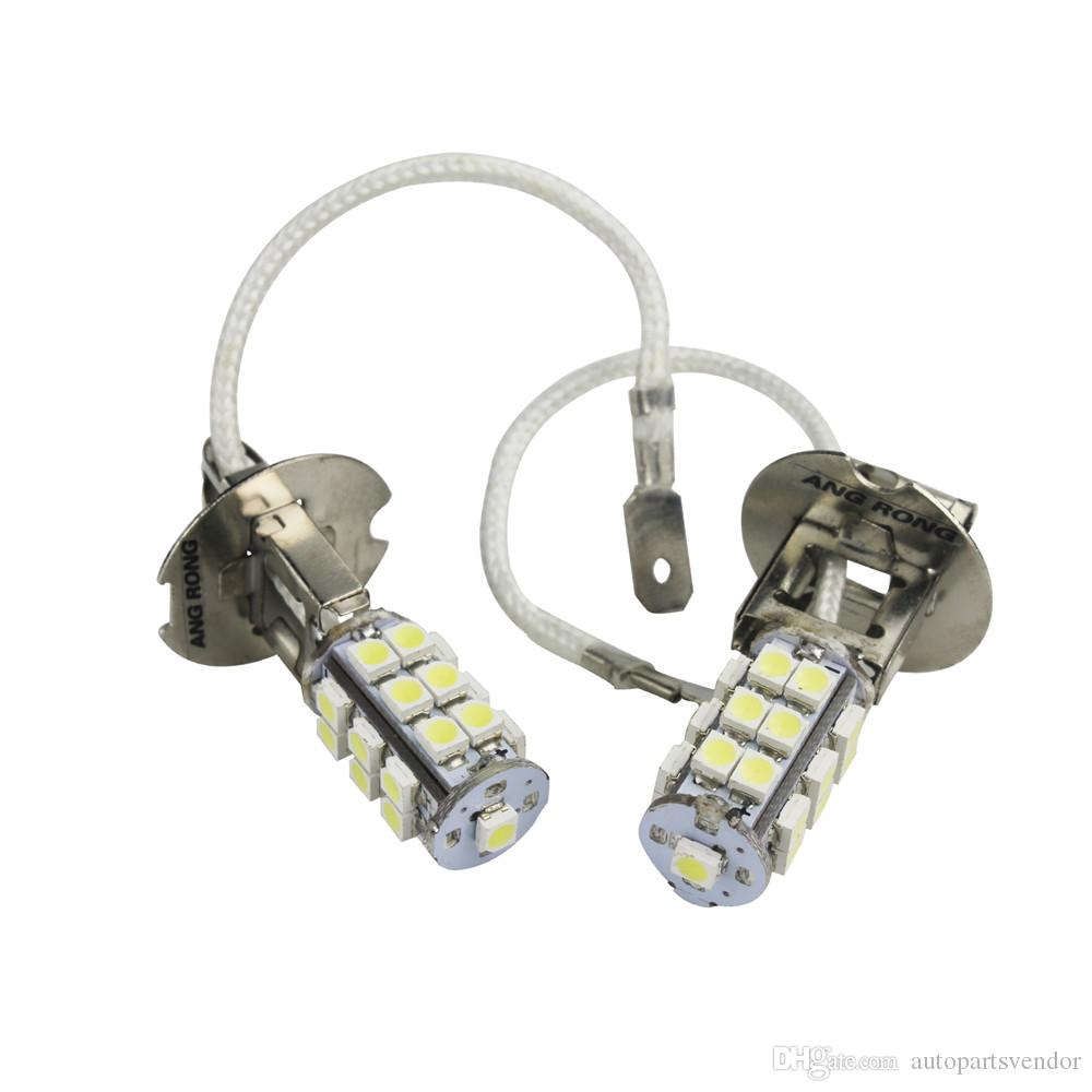 2pcs Led Car Light H3 25 SMD 3528 LED Bulb Car Styling Side Headlight Fog Driving Light Lamps Xenon White