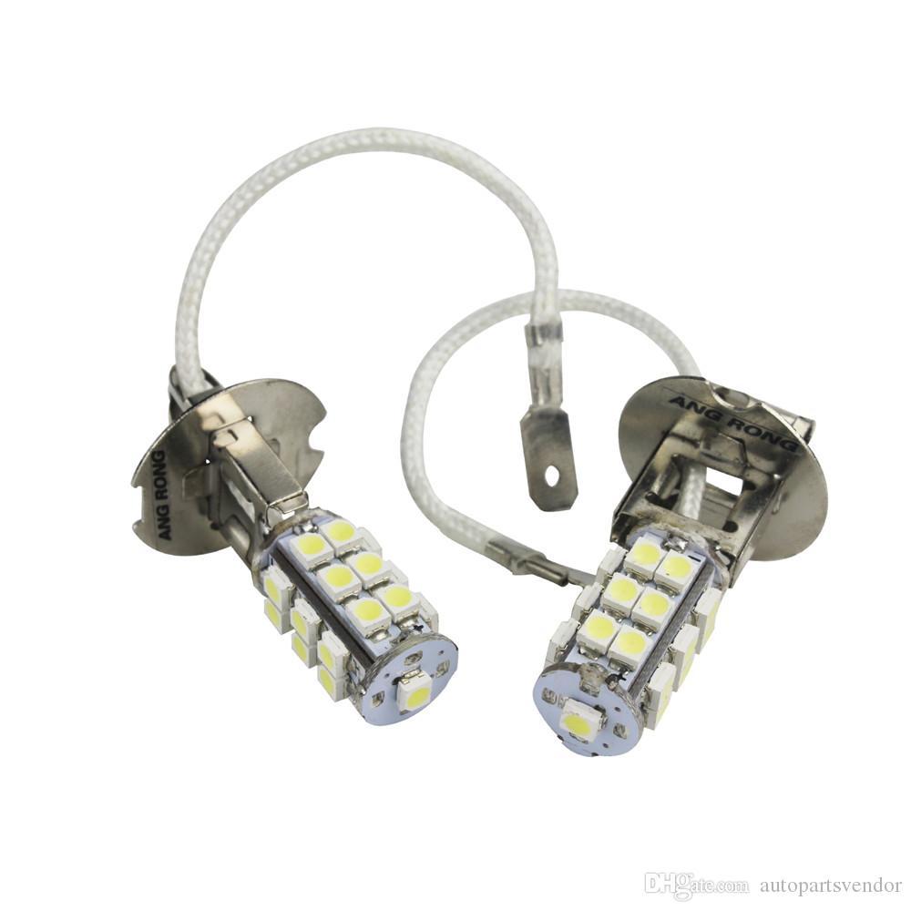 2шт светодиодный свет автомобиля H3 25 SMD 3528 светодиодные лампы стайлинга автомобилей боковые фары противотуманные фары дальнего света лампы ксеноновые белые