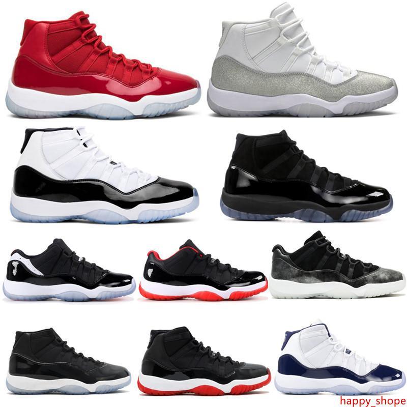 Конкорд 11 11s баскетбольная обувь белый металлик серебристый огромный серый тренажерный зал Красный 72-10 Space Jam мужские женские дизайнерские спортивные кроссовки тренера с