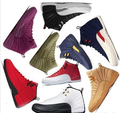 New International Scarpa Volo 12 12s economici cultura giapponese Mens scarpe da basket Suede Deep Blue Bianco Sport Sneakers