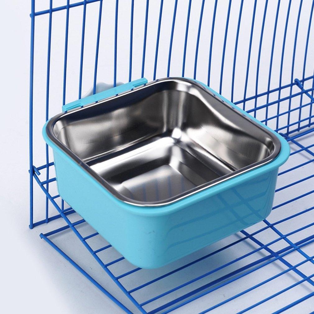 Acciaio inossidabile Può essere fissato Hanging Pet Ciotola Ciotola sulla gabbia One Accessori per il cane Merce di alimentazione e accessori per la casa rifornimenti idrici Reptile