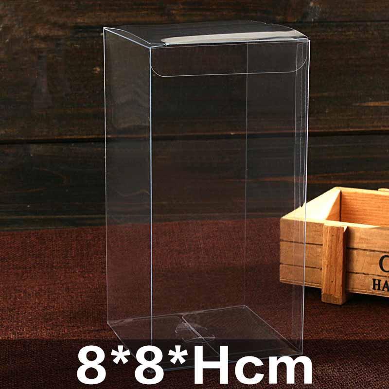 2018 neue heiße Verkauf PVC-Kasten 20pcs / lot Geschenk klar Verpackungsboxen / Plastikbehälter / Einzelhandel Schokolade Box Süßigkeiten