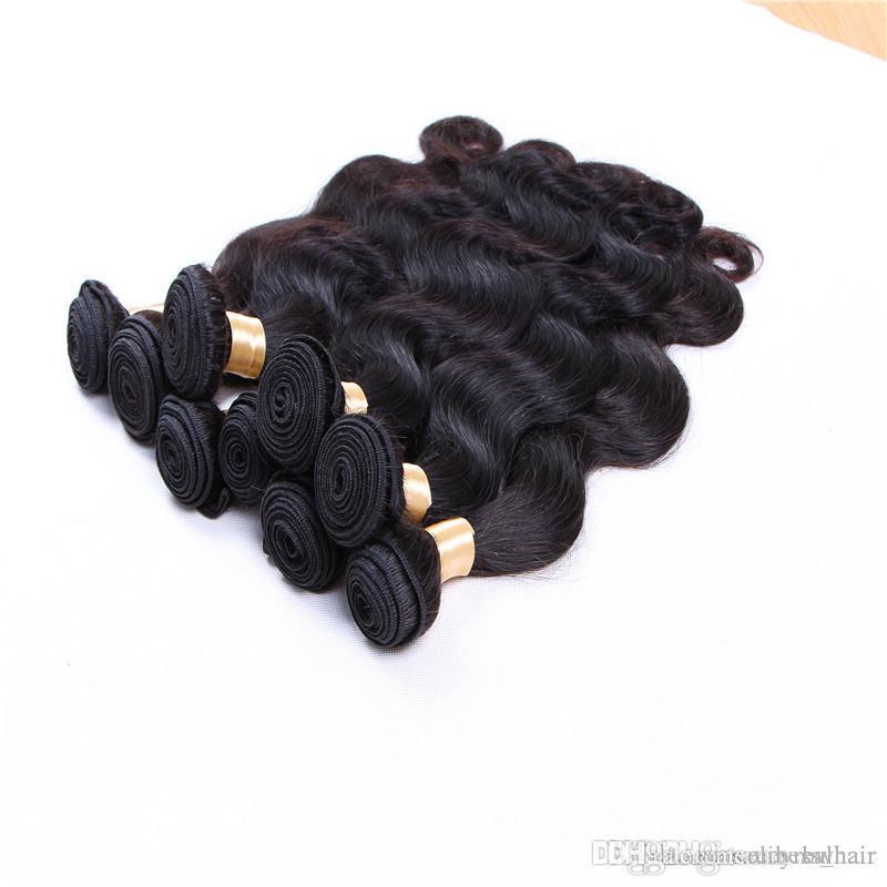 Необработанные Бразильский Объемная волна волос Уток человеческих волос, 80г один кусок 5 шт один лот, свободный DHL