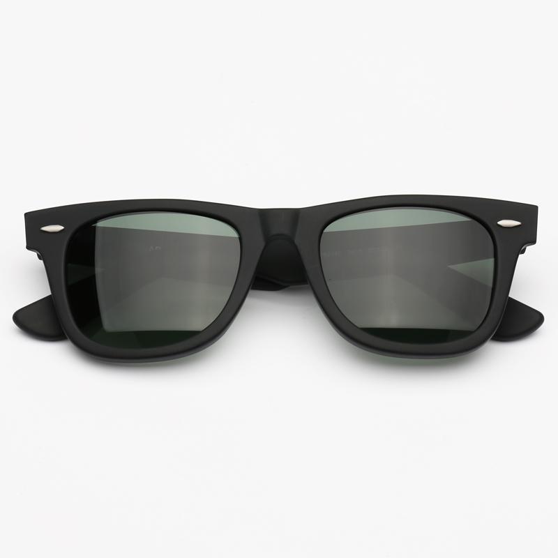 Sonnenbrille Herren Mode Green Qualität Party Frau Gläser UV400 Fall Schutz Glasgläser mit Top Sun Leder Sonnenbrille SSQTF