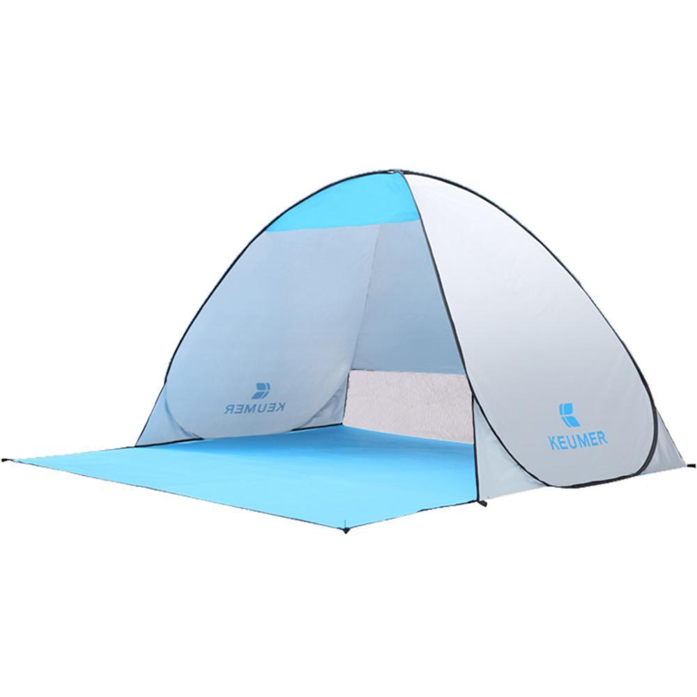 Instantánea 1PS al aire libre -hasta tienda abierta (120 + 60) * 150 * 100cm Beach abrigo de la tienda pesca que acampa de viaje Garden envío