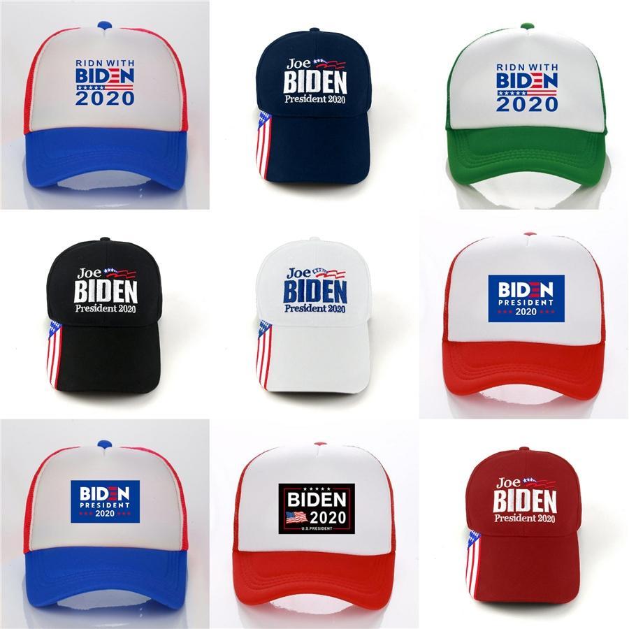 5 colores Casual Donald Biden 2020 hacer de Estados Unidos Gran Nuevamente béisbol Elección gorro de algodón bordado casquillos deportes al aire libre del sombrero del Snapback # 987