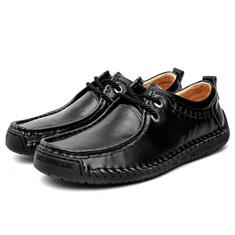 Hommes Chaussures Automne Casual 2019 Mode Flats Mocassins Hommes Mocassins Hommes Chaussures en cuir de qualité en cuir pour hommes Mocassins Big Taille HC-500