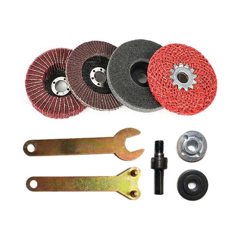 Taladro eléctricos de la conversión amoladora angular de la biela para plato de pulido rueda Metales titular de la manija Adaptador de los accesorios