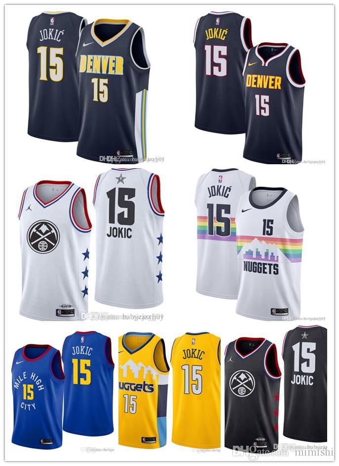 first rate cb728 89476 2019 NEW Nuggets Nikola 15 Jokic Jamal 27 Murray Swingman Jersey Earned  Edition Denver Men Jersey S XXXL White T Shirt Design T Shirt Deals From ...