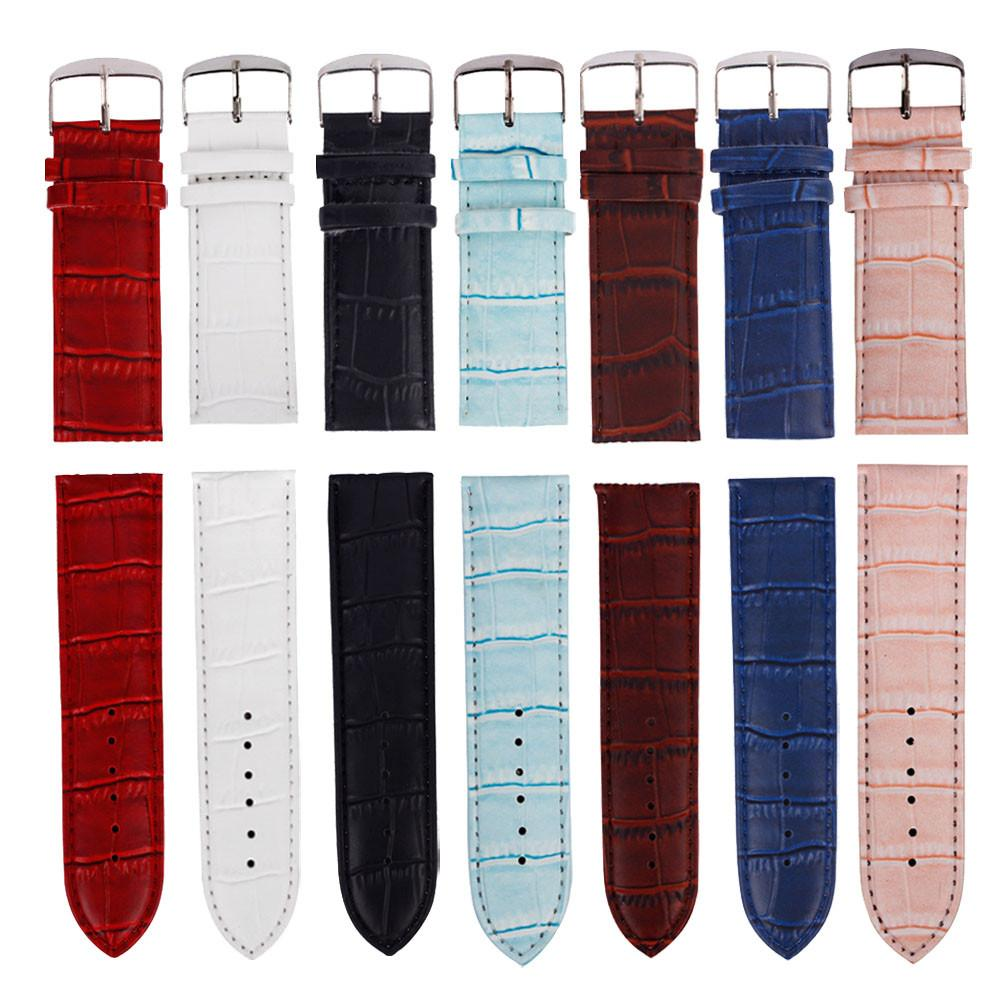 Watch Band 12mm,14mm,16mm,24mm,26mm High Quality Soft Sweatband Leather Strap Steel Buckle Wrist Watch Band Watchbands