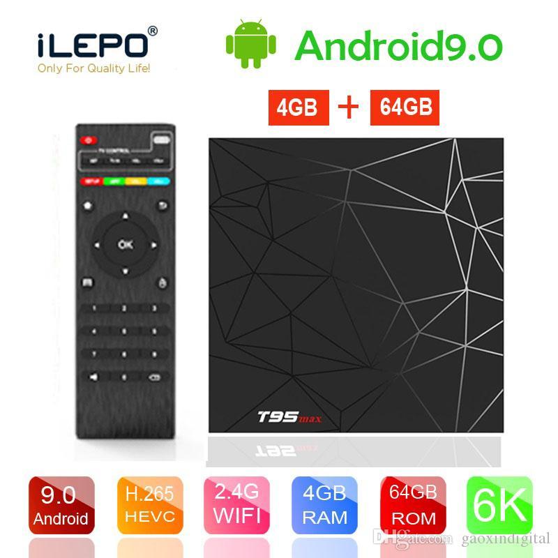 T95 Max Android 9.0 TV Box 4GB 32GB 64GB 2.4G WIFI USB3.0 6K Ultra HD Allwinner H6 Android Tv box