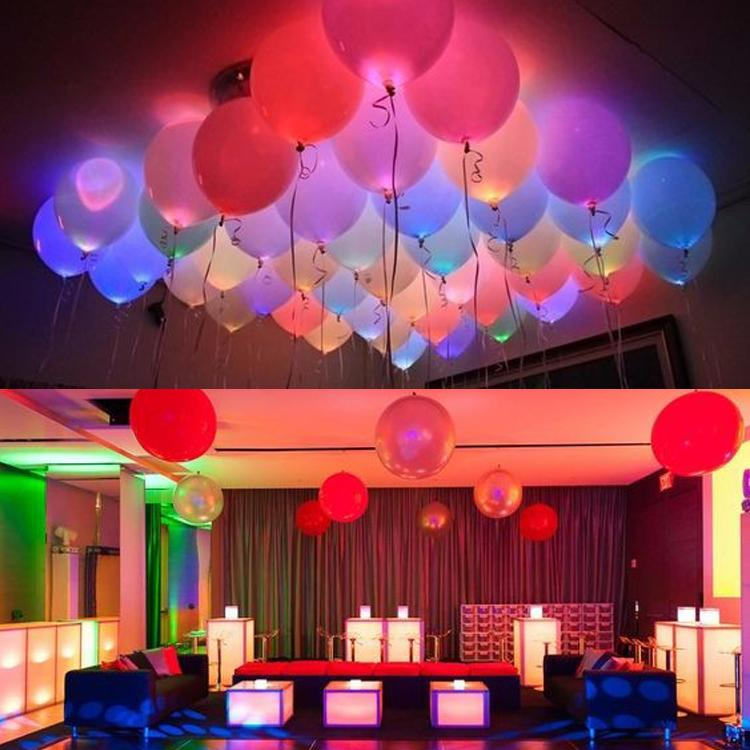 50pc/lot 12inch White Mix Led Flash Balloons Iuminated LED Balloon glow birthday party supplies Wedding Decor Supplies wholesale T200624