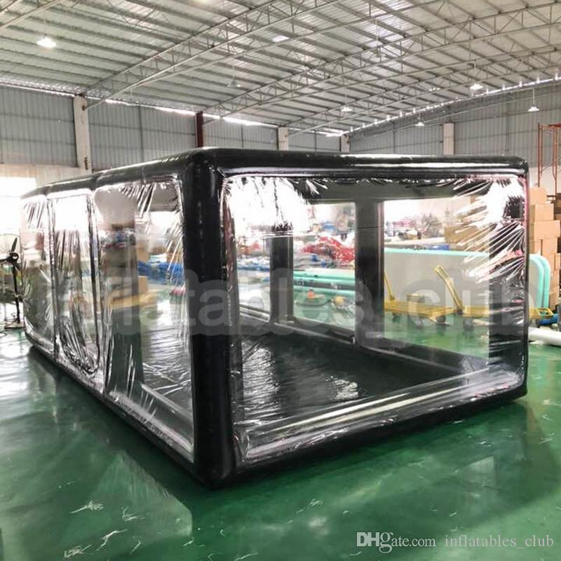شحن مجاني شحن مضخة نفخ سيارة خيمة 5x2.5x2 متر نفخ سيارة معرض للداخلية أو في الهواء الساخن بيع غطاء السيارة / كبسولة / المرآب
