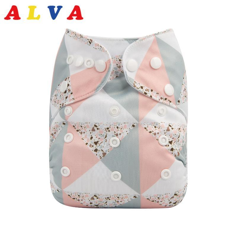 Alvababy Cloth Diapers Baby 2020 New Printed Cloth Nappy with 1pc Microfiber Insert