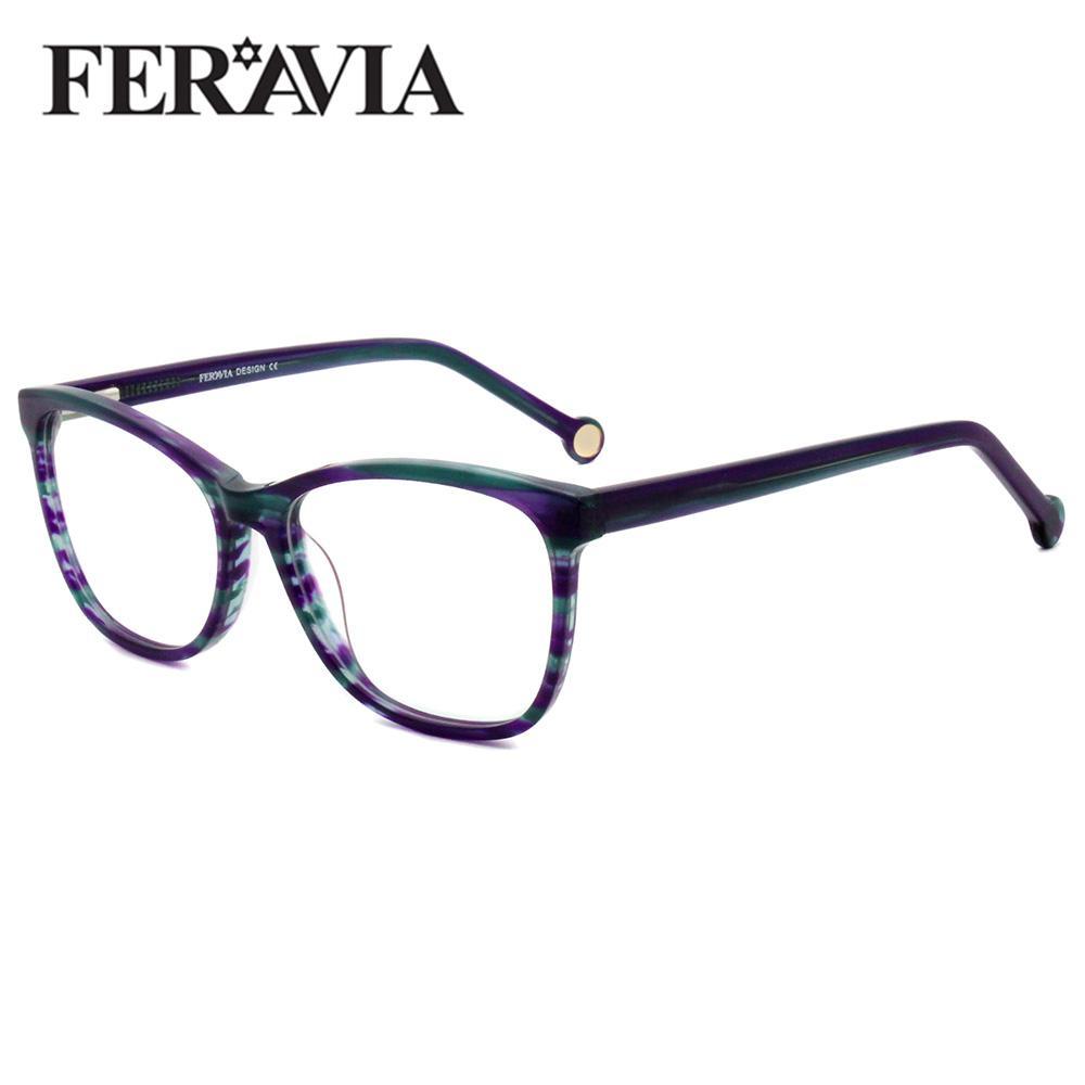 Женщины Классический ручной работы Очки Полный Spectacle Кадр близорукости Reading Glasses Оптические Frame FVG7047