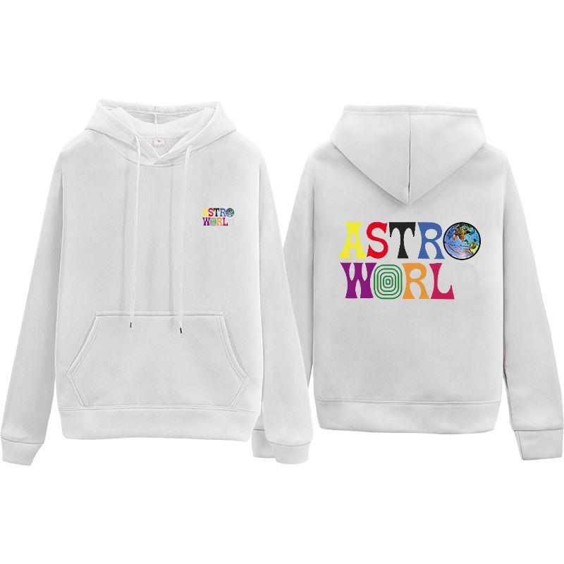 Travis Scott Hoodie Color Crop Top Women Femme Clothes Sudadera Hoodies Pullover Sweatshirts Striped Sweatshirt Astro World