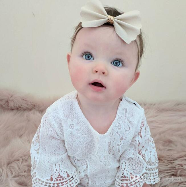 Infant Newborn Baby Girl Romper Bodysuit Lace Cotton Outfit Ruffled One-Piece Romper Outfit Set Clothes free shipping