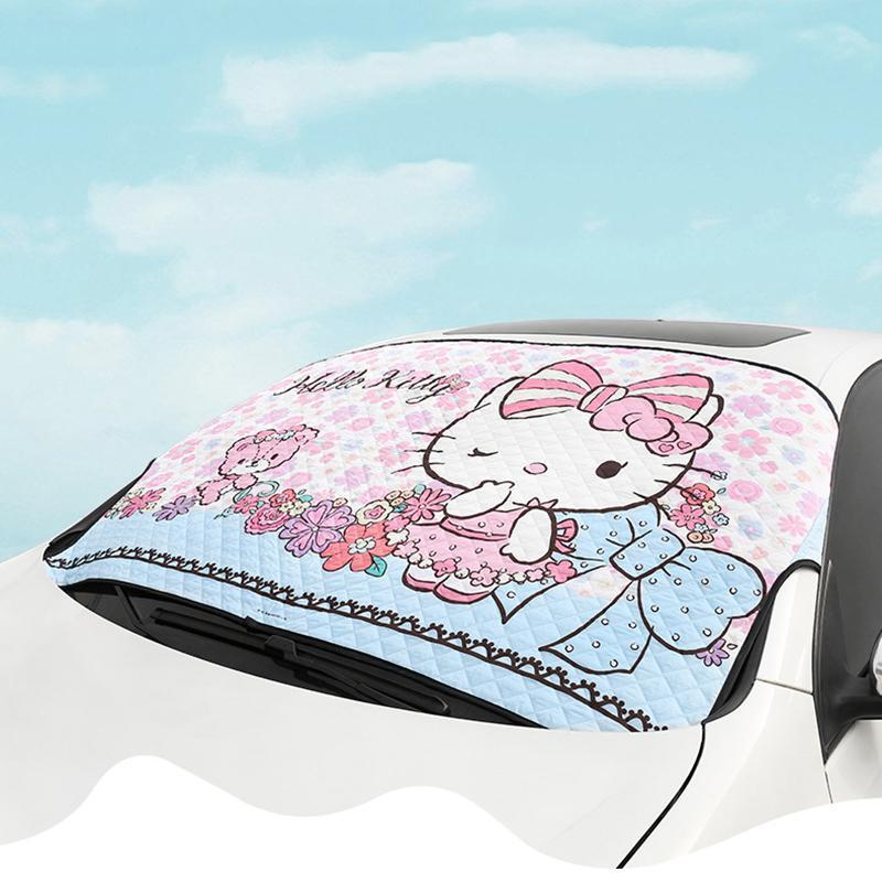 Auto Kitty Cat Pare-soleil Pare-soleil Pare-brise Couvre Visor bloc avant Pare-soleil automatique Protection UV rideau Accessoires voiture