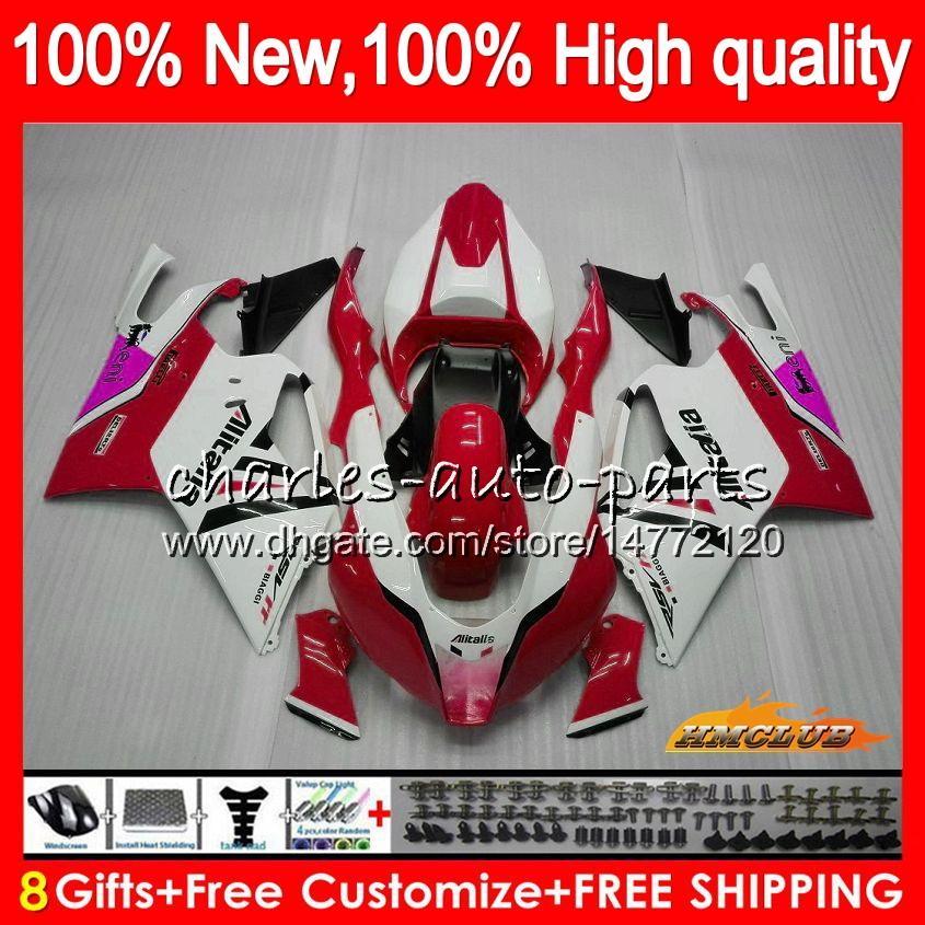 Para el cuerpo Aprilia RSV1000 RSV1000R Mille RV60 R RR 03 04 05 06 62HC.25 RSV1000RR rojo RSV caliente blanca 1000 R 1000R 2003 2004 2005 2006 carenados