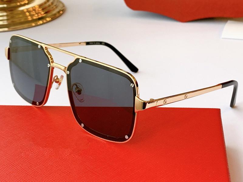 новые 0194 модные дизайнерские солнцезащитные очки квадратная рамка простые мужские деловые очки специальная память мягкие металлические очки uv400 защита 0194S
