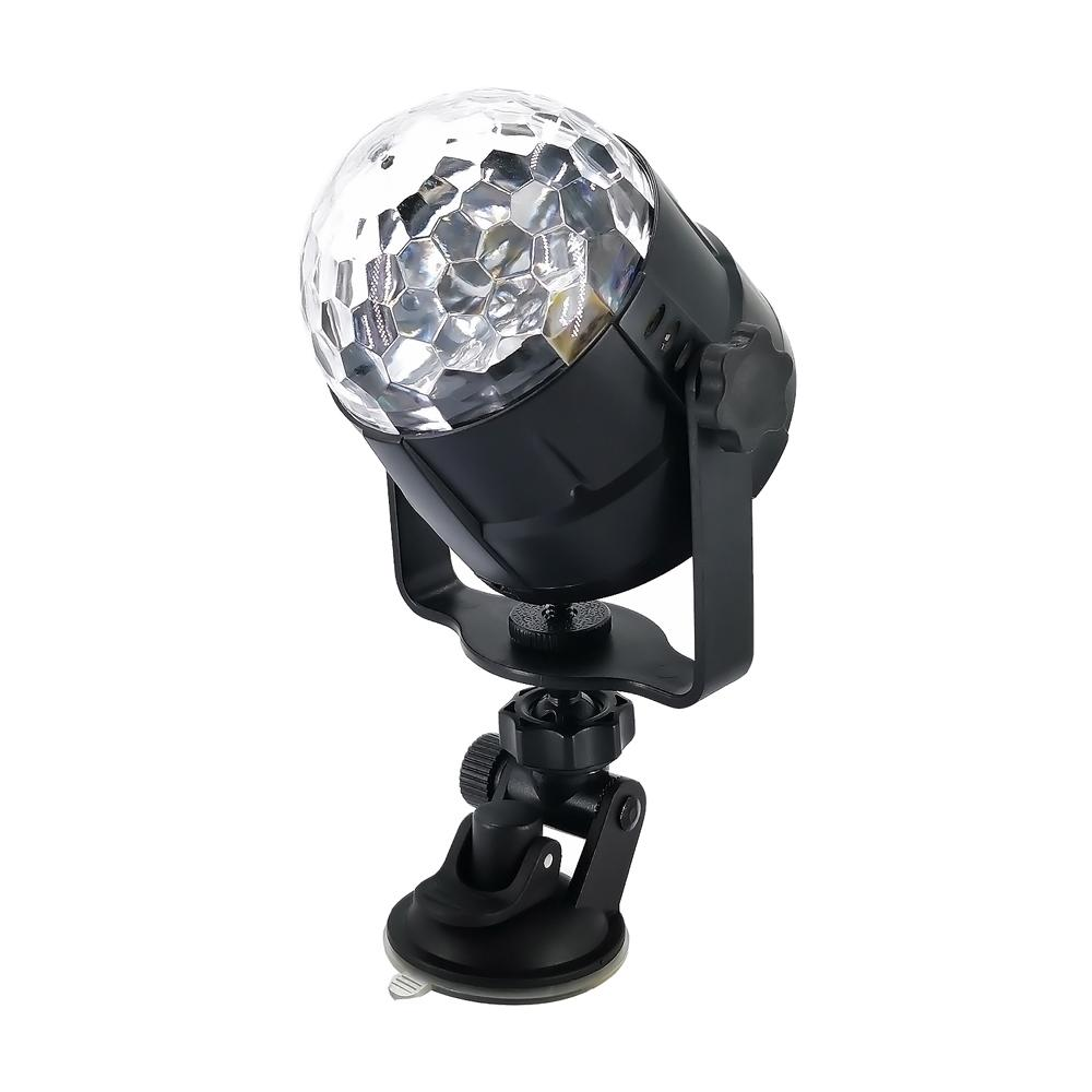 15 Colors LED USB 5W Sound Activated Car DJ Disco Ball Lumiere Projector RGBP Stage Lighting Effect Lamp Light Music Party