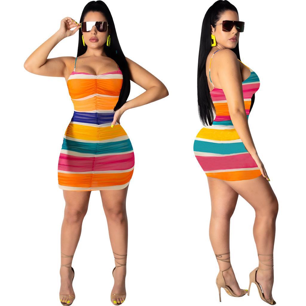 Femmes Robes Mode d'été Nouveau style de haute qualité Robes impression de luxe Femmes Designer Robes Femmes de luxe de manches d'été