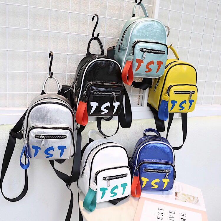 Razaly haute qualité mini-concepteur lettre de sac à main sac à dos femmes petit sac zipper shopping Sacs d'école en cuir sport