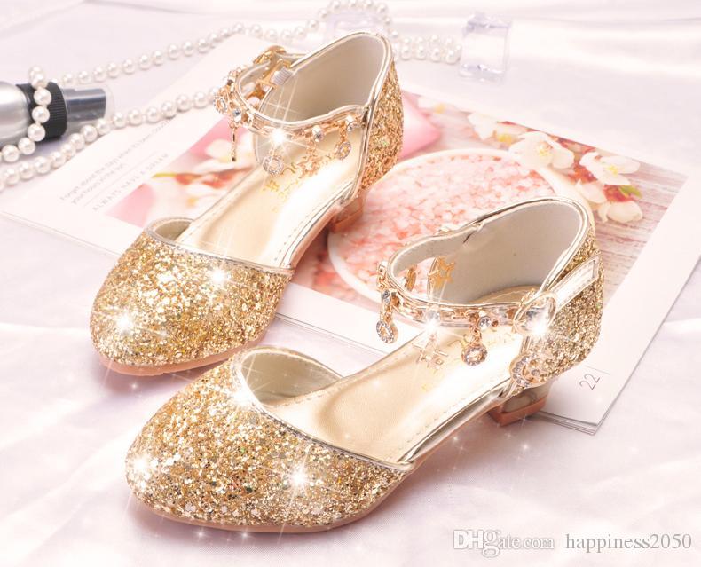 Lovely Silver Gold Pink Flower Girls