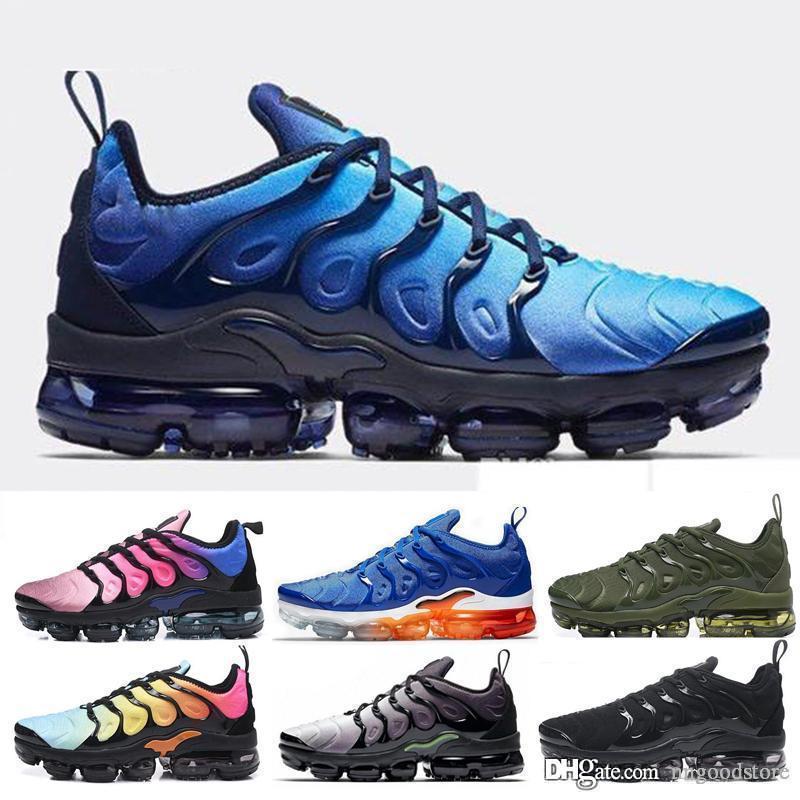nike Vapormax Tn plus air max airmax Mens nuevo envío libre TN zapatos Plus aire respirable Cusion desingers zapatos corrientes ocasionales de la nueva llegada del color zapatillas