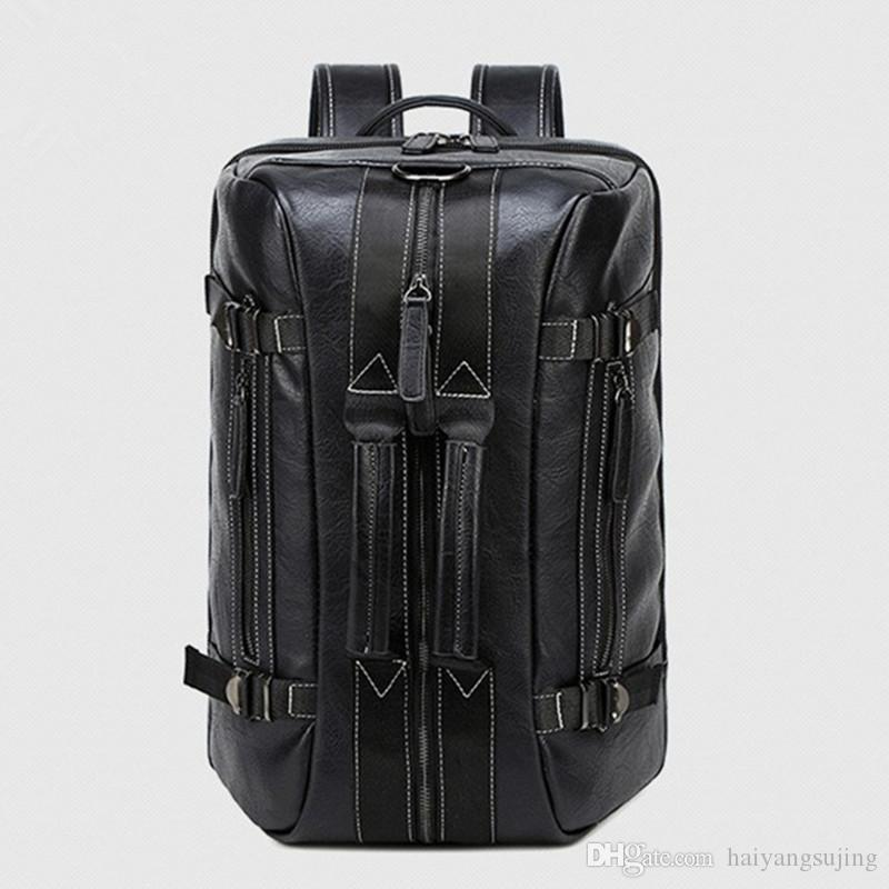 Multifunctional men backpack handbags single man double shoulder messenger bag travel computer bags woman casual three-use laptop handbag