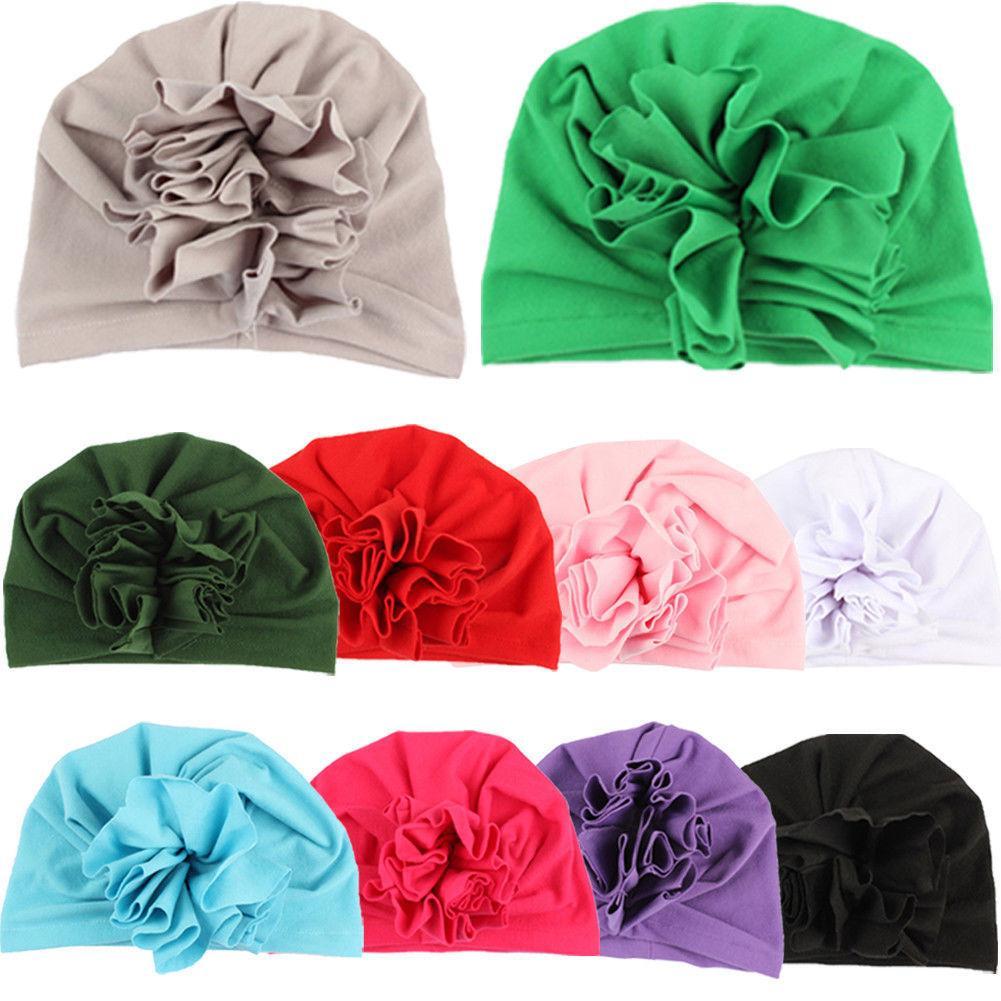 Berretto in cotone per cappello India regolabile per avvolgere la testa di fiore del turbante della neonata dei neonati