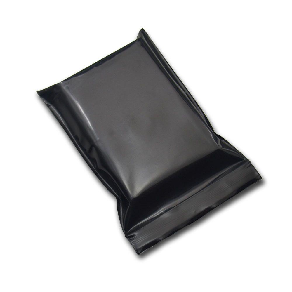Black Opaque Zip Lock Storage Packaging Bags Self Seal Zipper Packing Pouches Resealable Ziplock Sundries Package Bags